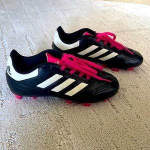 Adidas girls Soccer Cleats - Black and Pink